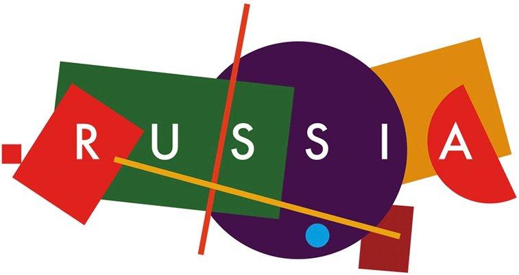rusija turizam logo dizajn suprematizam