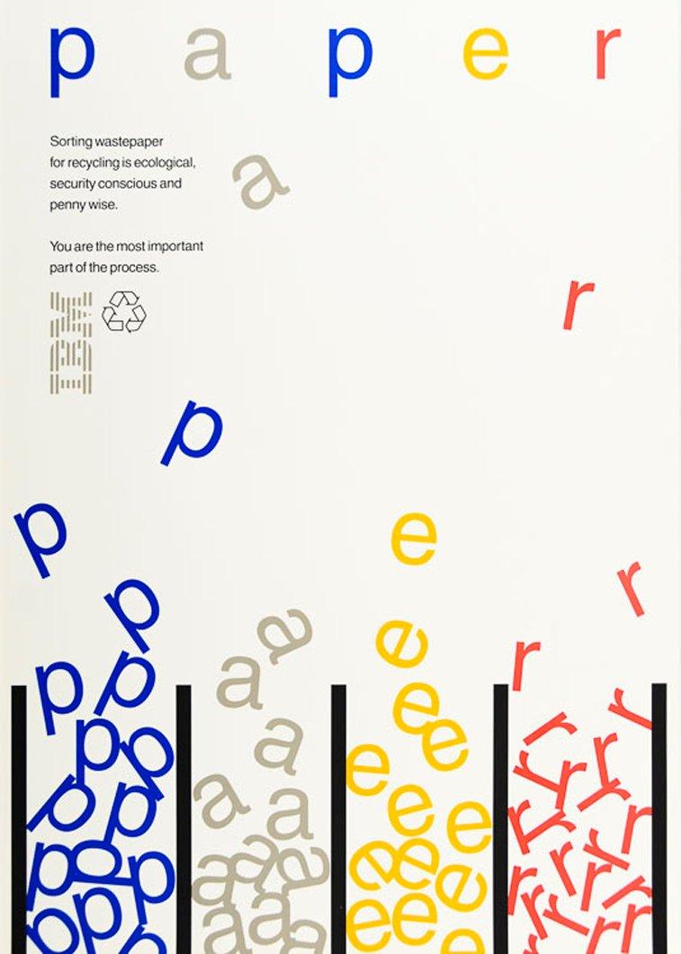 IBM plakatipaper reciklaza