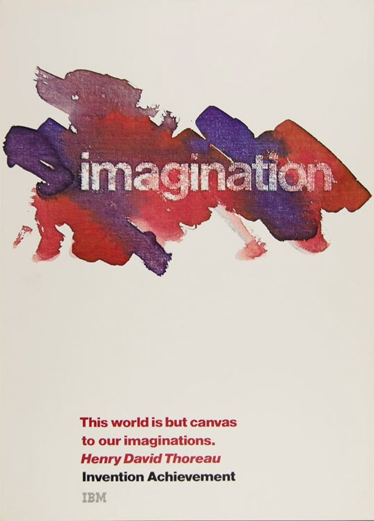 IBM plakati imagination