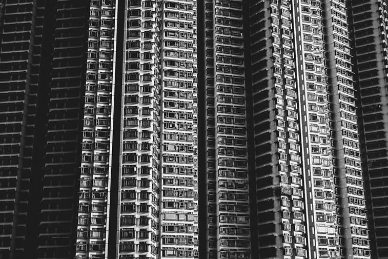 contrasts of hong kong 16 building photo