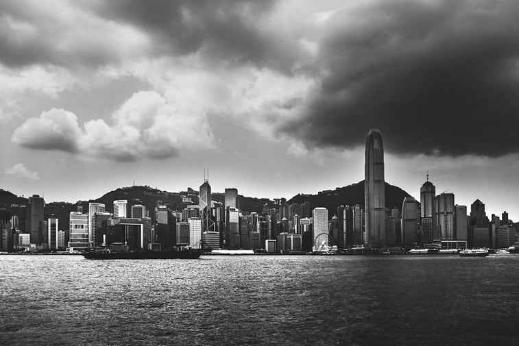 contrasts of hong kong 3 skyline