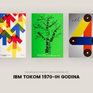 Originalni plakati dizajnirani za IBM tokom 1970-ih godina