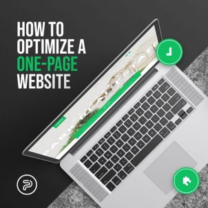 How to optimize a one-page website