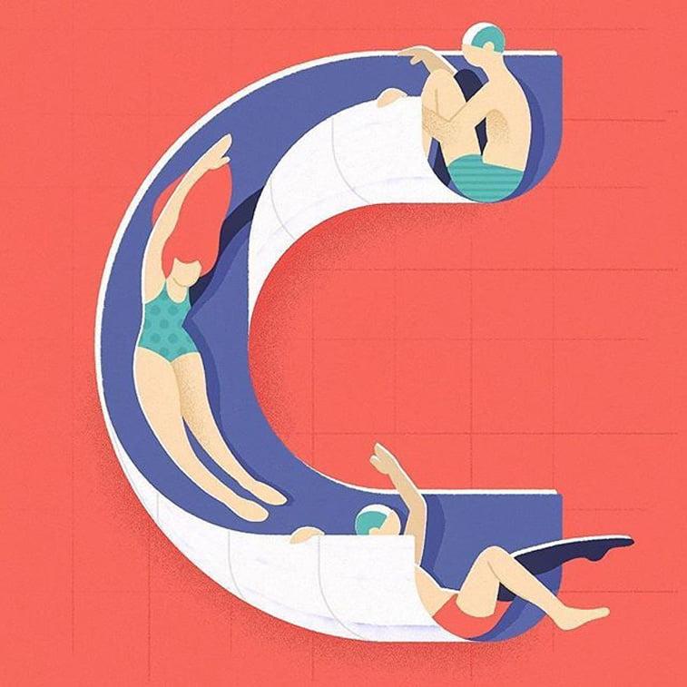 36 dana tipografije slovo C