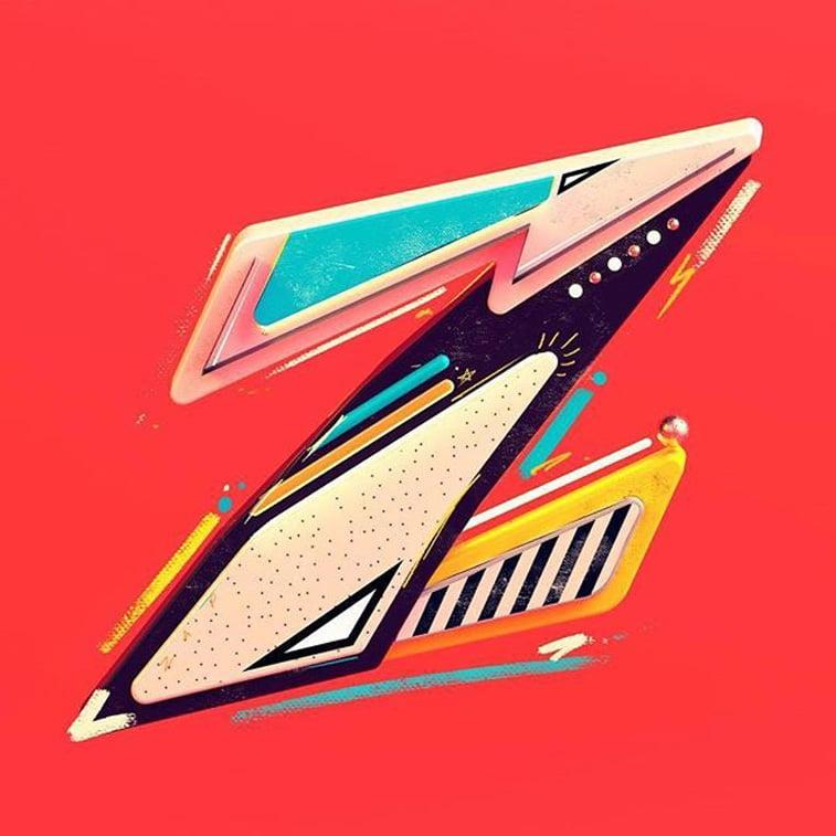36 dana tipografije slovo Z