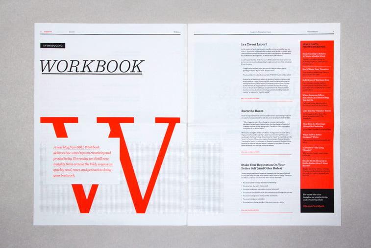 99u magazine minimalizam tipografija