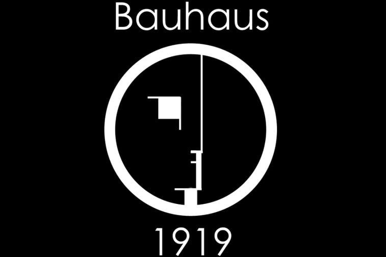 bauhaus logo crno belo font