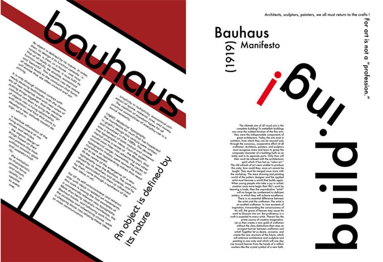 bauhaus manifesto graficki dizajn tipografija