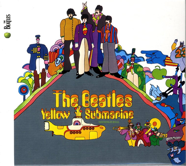 beatles yellow submarine omot albuma pop art
