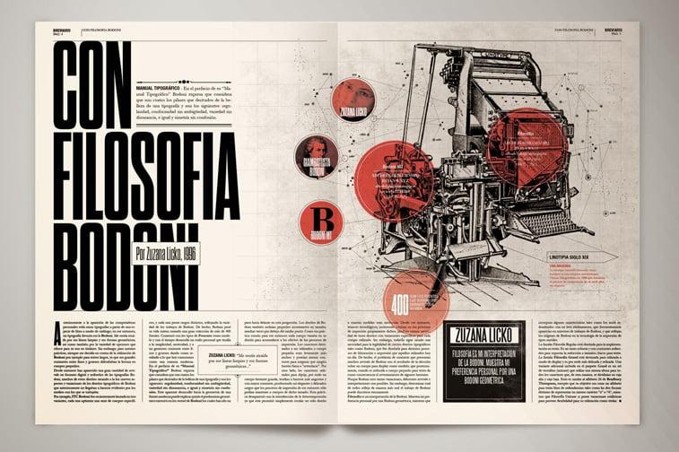 magazin breviario layout masina tipografija