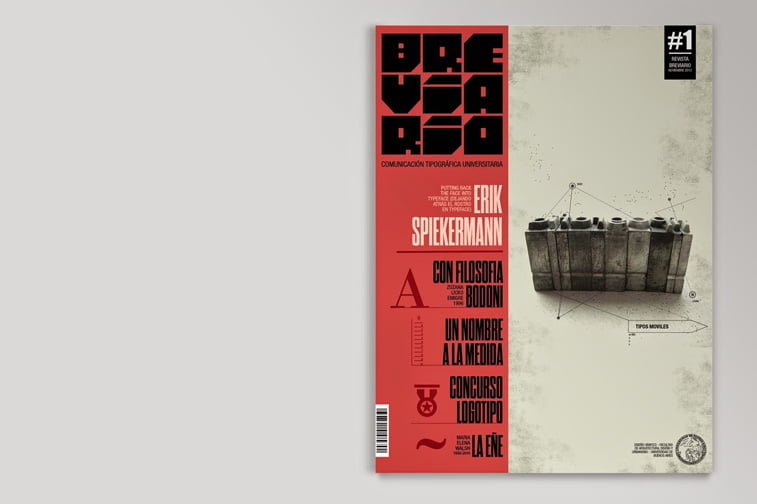 breviario magazine cover graficki dizjan retro stil