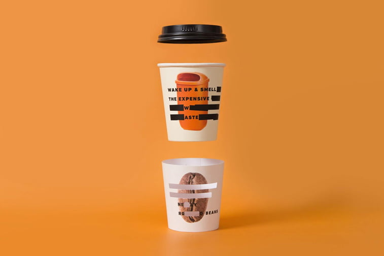 coffee cup packaging design