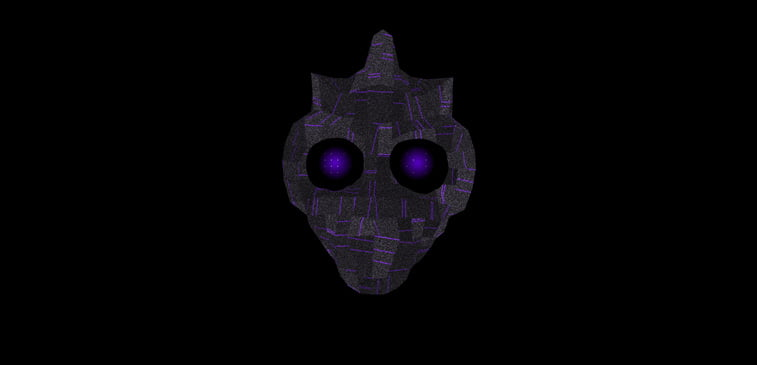 CSS3 ilustracija maska lice oci
