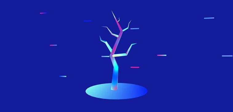 CSS3 ilustracija apstraktno drvo