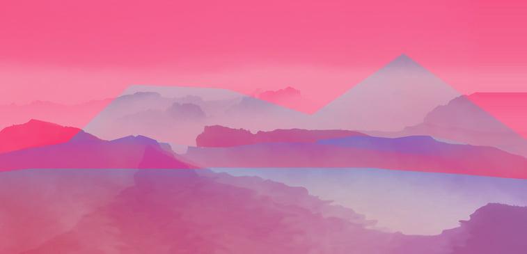 CSS3 ilustracija mir pejzaz apstraktno