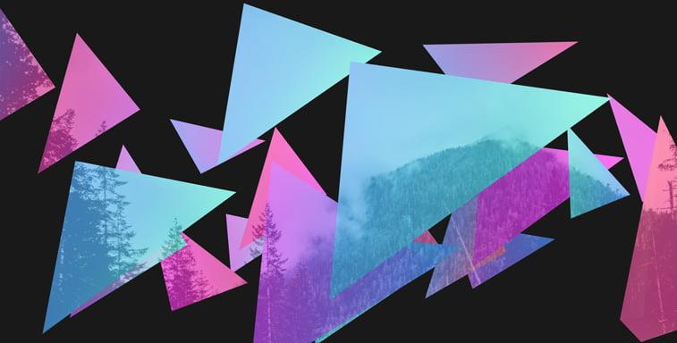 CSS3 ilustracija planine fotografija trouglovi
