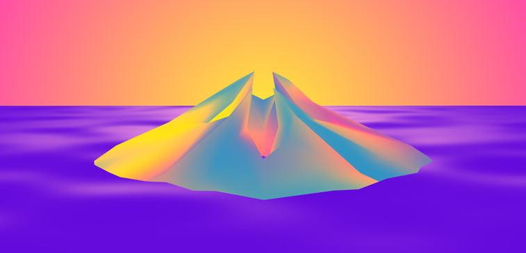 CSS3 ilustracija boje vulkan