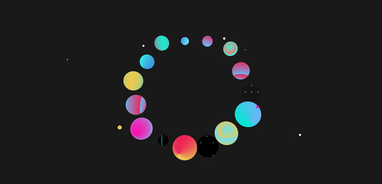 CSS3 ilustracija geometrija lopte sfrere