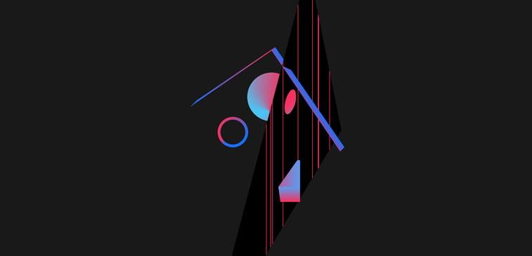 CSS3 ilustracija geometrijski oblici apstraktno