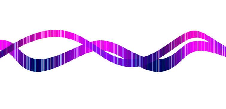 CSS3 ilustracija nucleobase prepletene linije