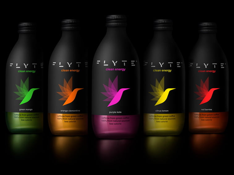 energy drink packaging design fluorescent colors
