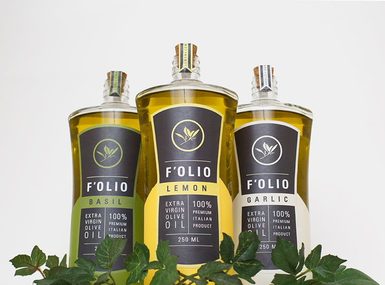 olive oil dichromatic packaging