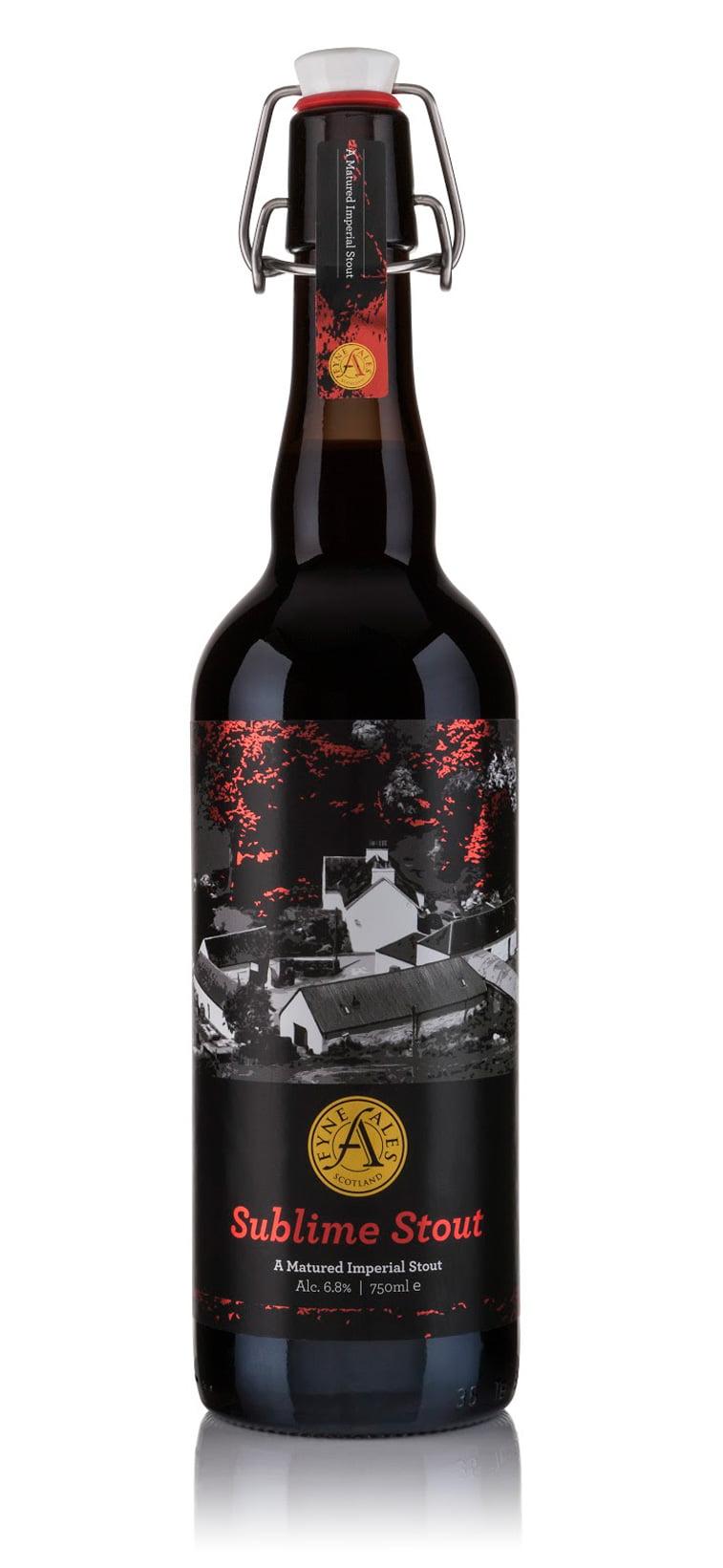 craft stout beer packaging design