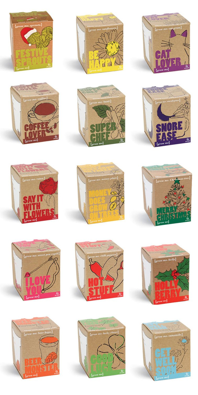 cube food packaging two colors