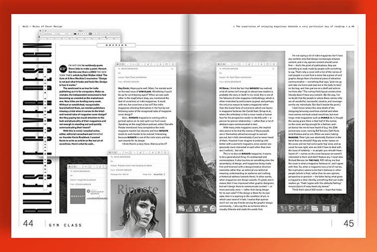 magazin gym class crno belo tekst layout