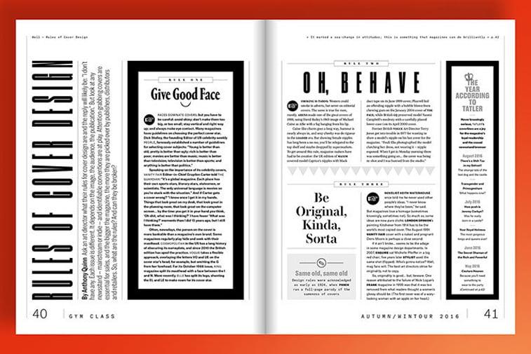 magazin gym class crno belo dizjan layout prelom tekst