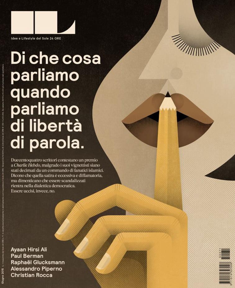 il casopis jun 2015 ilustracija devojka sloboda izrazavanja italijanski jezik