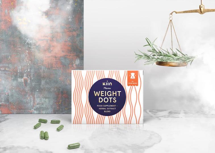 Kiin-Pharma dichromatic packaging blue orange
