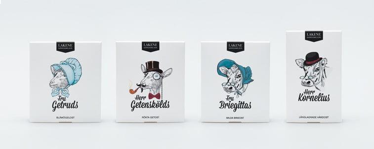 Lakene sir pakovanja ilustracija dizajn ambalaze