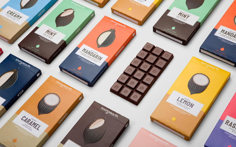 chocolate packaging design 2 colors