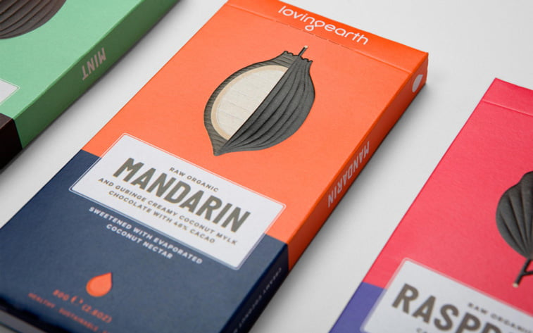 chocolate packaging design two colors