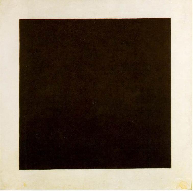 kasimir malevich crni kvadrat na beloj pozadini suprematizam