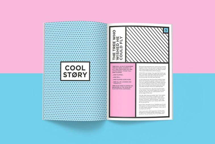 casopis oh hey! layout grafilcki dizajn cool story