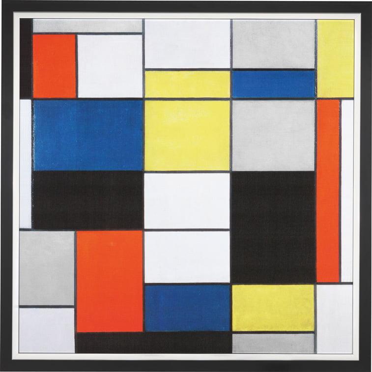 piet mondrian kompozicija a grid design de stijl linije