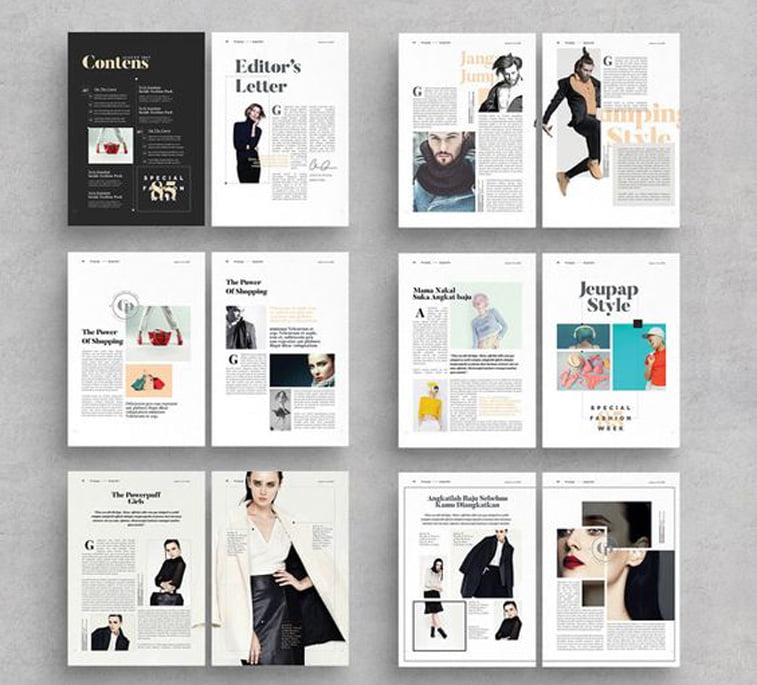 dizjan casopisa spread layout design fashion lifestyle