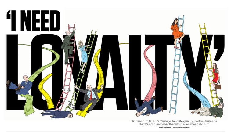 politico i-need loyalty dizajn ilustracija prelom