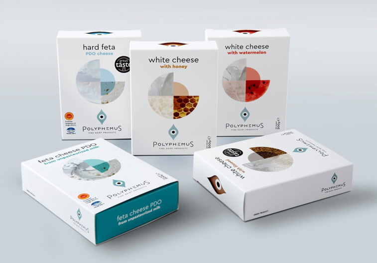 Polyphemus sir dizajn pakovanja kutija
