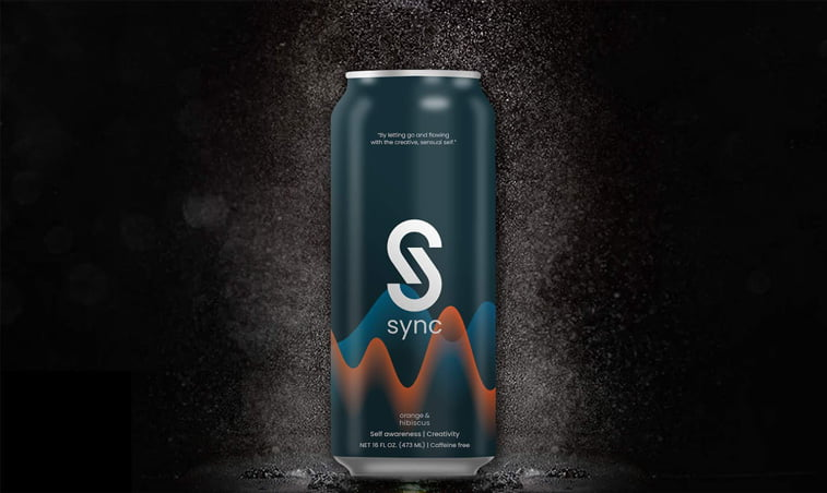 drink can dichromatic design