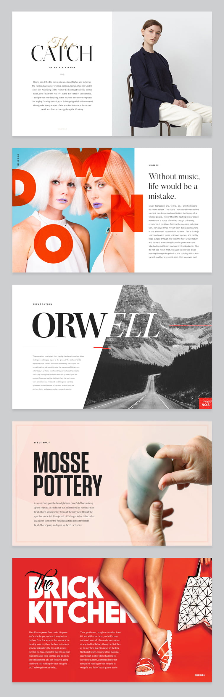 tipografija casopis moda fotografija