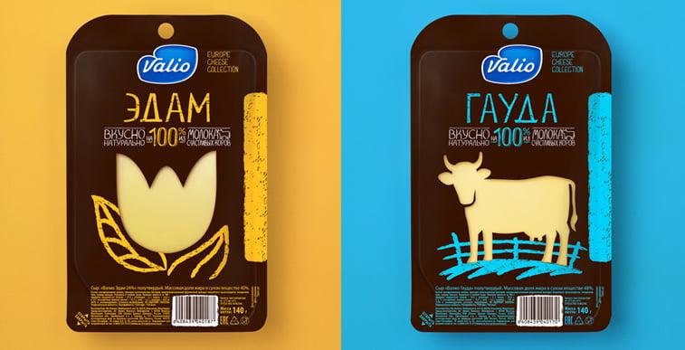 Valio sir pakovanje dizajn