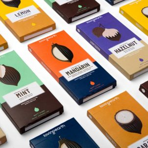Dichromatic packaging design examples