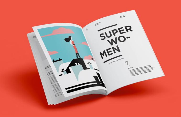 dizajn casopisa super woman ilustracija anais coulon