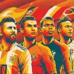 sp rusija 2018 fifa world cup footbal players illutration