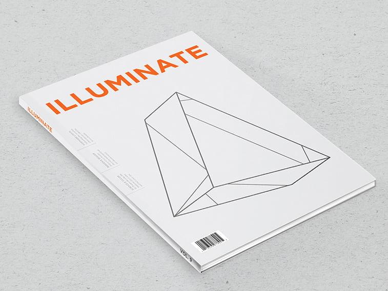 illuminate magazine naslovna minimalizam grafika geometrija