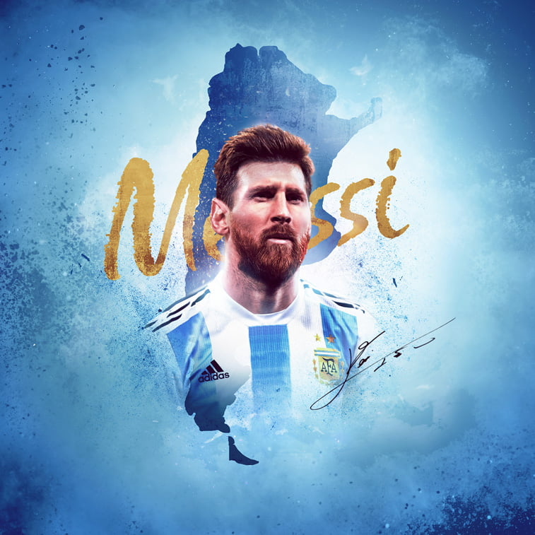 sp rusija 2018 messi poster argentina fifa world cup