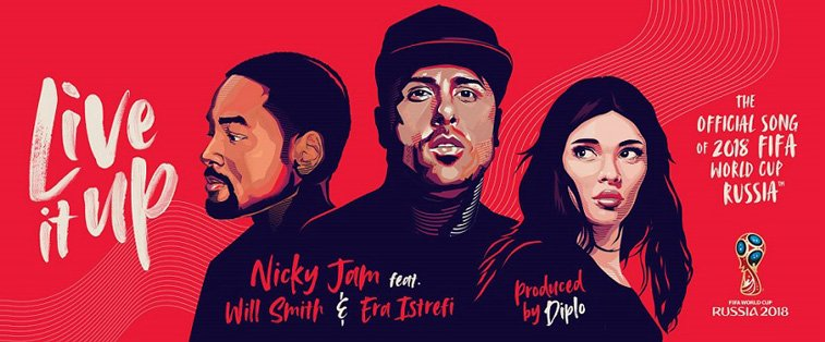 sp rusija 2018 official song illustration Nicky Jam Will Smith